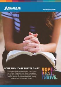 Anglicare Prayer Diary Cover 2019
