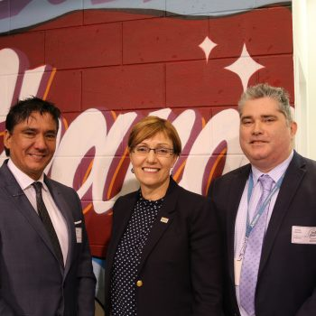 YMCA CEO, Local MP and Anglicare CEO at YMCA Youth Space Opening Event