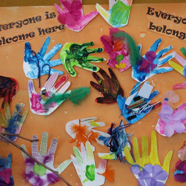'Everybody belongs' children's art piece