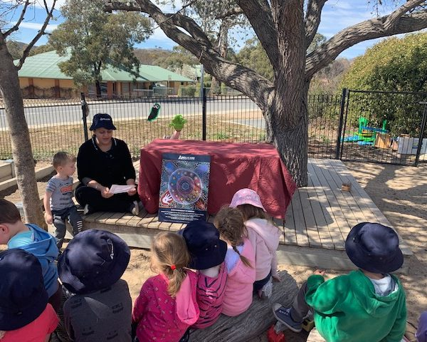 Calwell children learning during NAIDOC Week