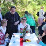 Anglicare clients enjoying morning tea