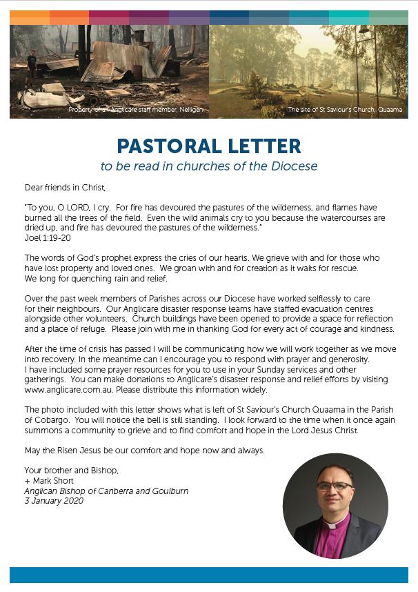 Letter from Bishop Mark