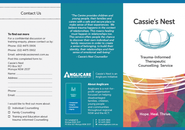 Cassie's Next Brochure