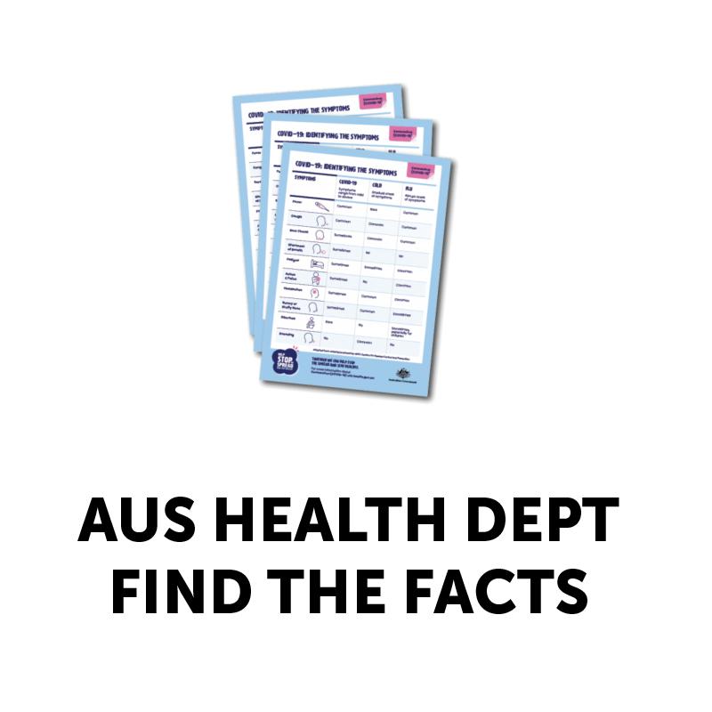 AUS HEALTH DEPT 'FIND THE FACTS'