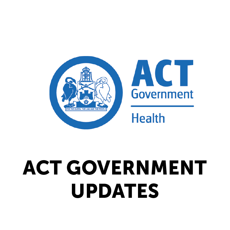 ACT GOVERNMENT UPDATES