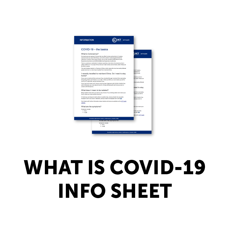 WHAT IS COVID-19 INFO SHEET