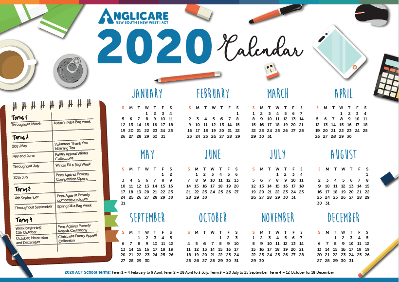 2020 Schools Calendar