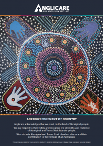 Anglicare Acknowledgement of Country Artwork