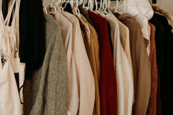 Clothing on rack photo